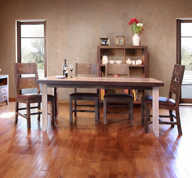 900 Antique 5 Piece Table and Chairs Set by International Furniture Direct at Catalog Outlet