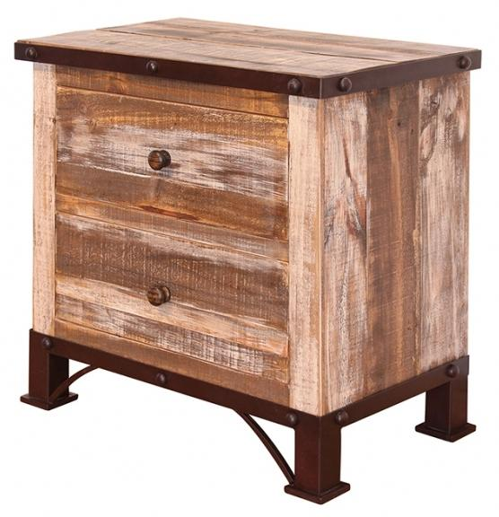 900 Antique 2 Drawer Night Stand by International Furniture Direct at Factory Direct Furniture