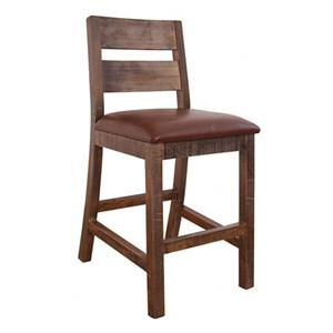 "Casual 30"" Barstool with Upholstered Seat"