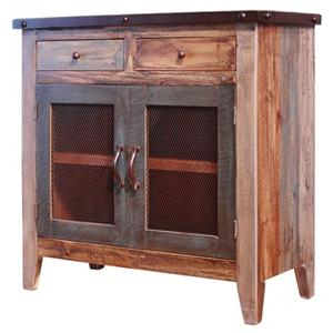 "International Furniture Direct 900 Antique 36"" Multicolor Server"
