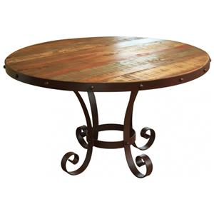 "International Furniture Direct 900 Antique 51"" Round Table"