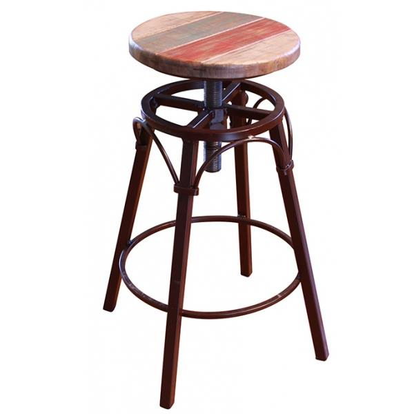 """900 Antique 24""""-30"""" Adjustable Counter Stool by International Furniture Direct at Furniture and ApplianceMart"""