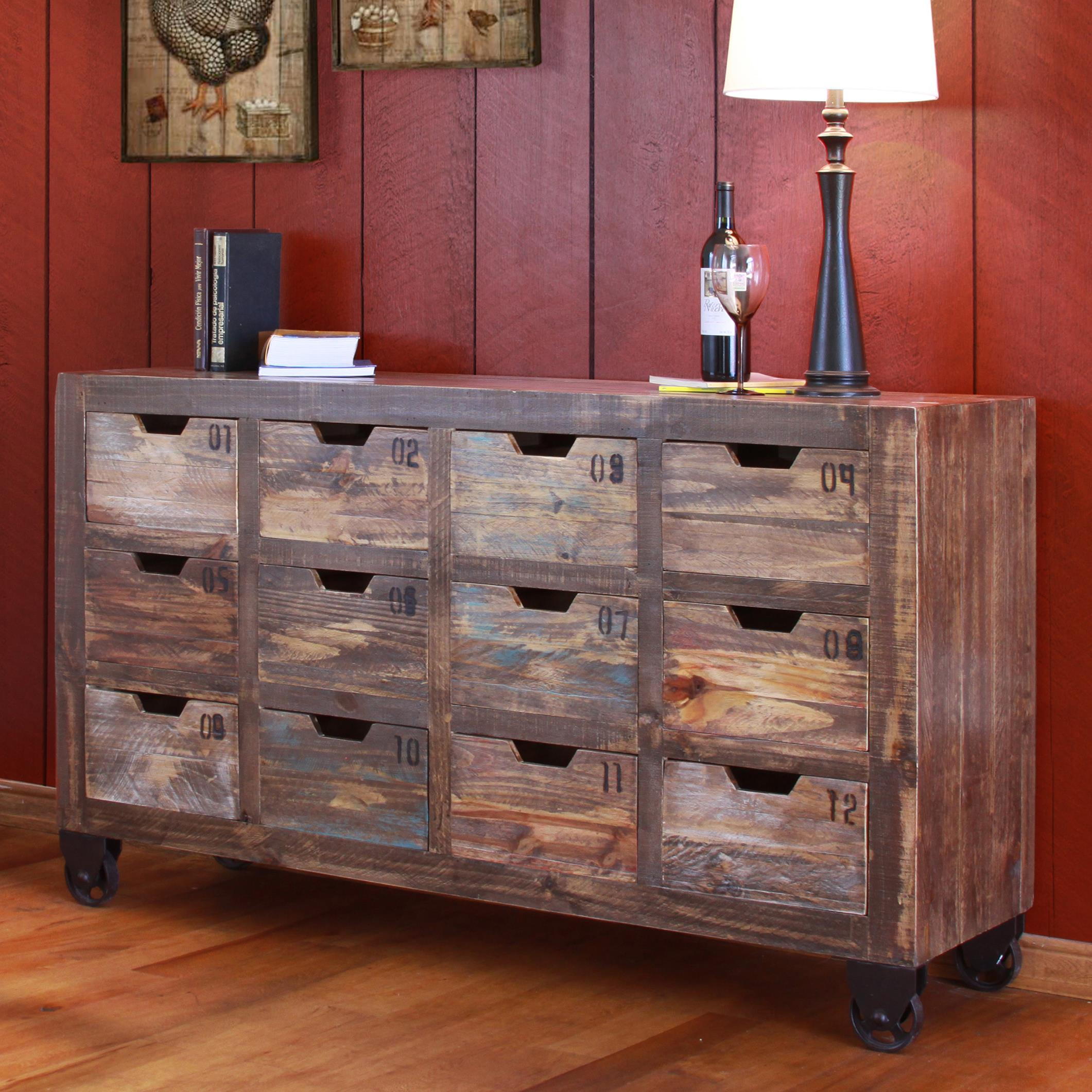 Consoles Multi-Drawer Console with 12 Drawers by International Furniture Direct at Catalog Outlet
