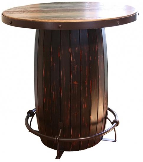 967 Bistro Barrel Bar Table by International Furniture Direct at Westrich Furniture & Appliances