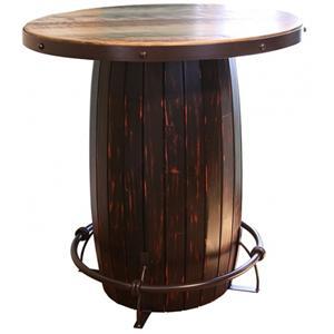 Bistro Table Barrel w/ Iron footrest
