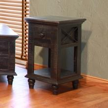 Chair Side Table with 1 Drawer and 1 Shelf