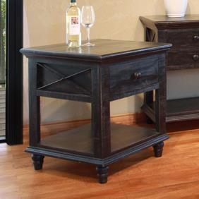 End Table with 1 Drawer and 1 Shelf