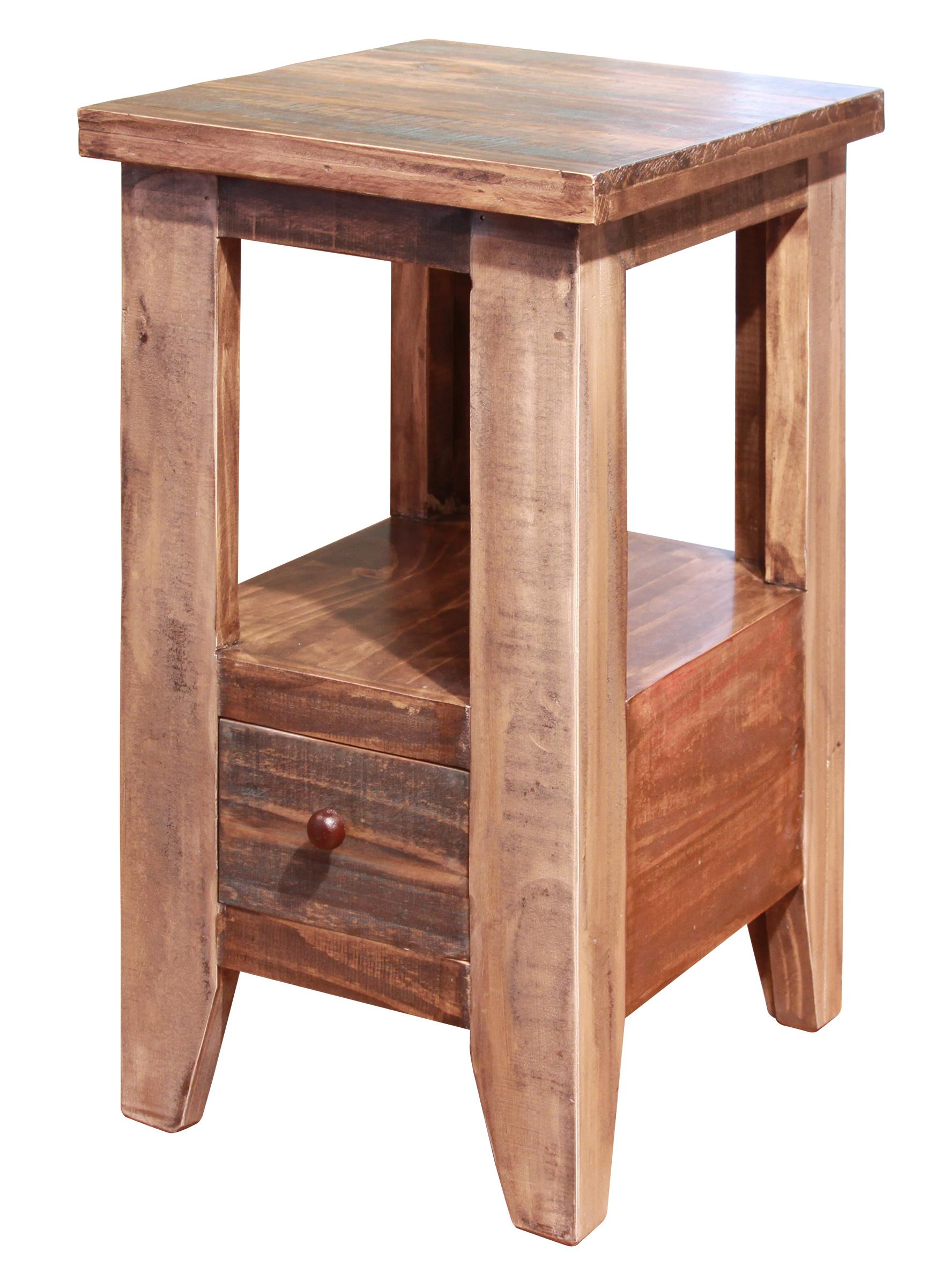 Antique Chair Side Table by International Furniture Direct at Sparks HomeStore