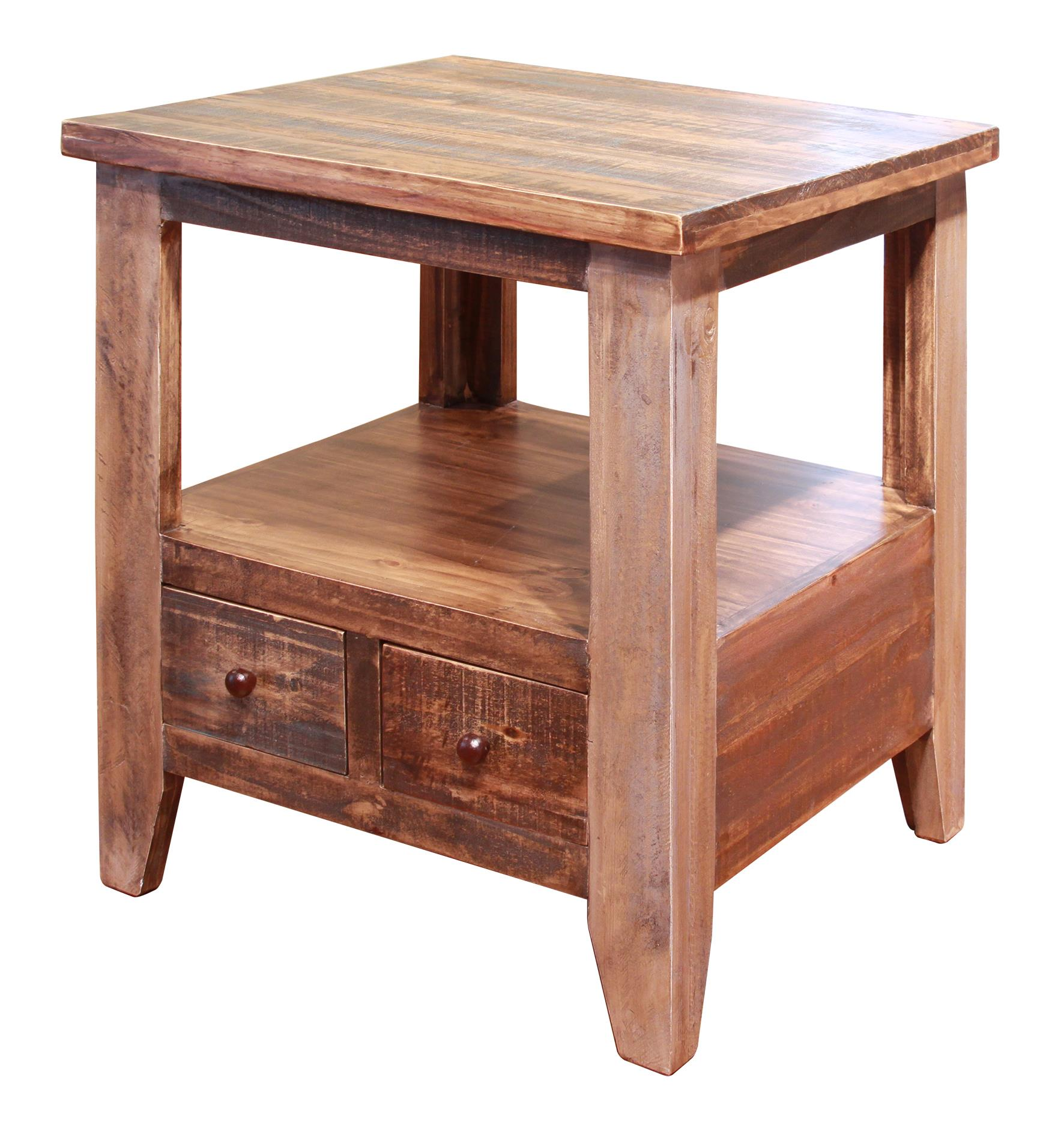 Antique End Table by International Furniture Direct at Darvin Furniture