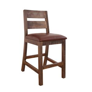 Counter Height Stool with Ladder Back