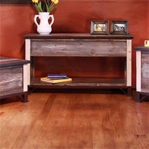 Storage Sofa Table with Wood Shelf