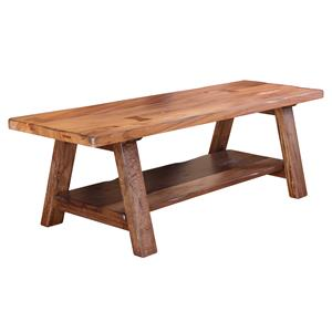International Furniture Direct Parota Solid Wood Dining/Bedroom Bench