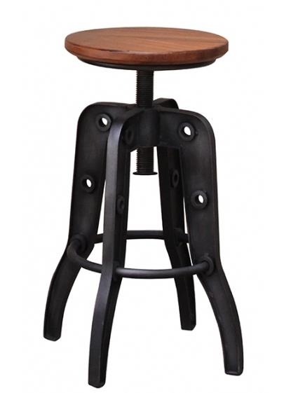 Parota 24-30 Inch Adjustable High Stool by International Furniture Direct at Dinette Depot