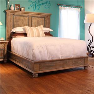 International Furniture Direct Praga  Low Profile Queen Bed