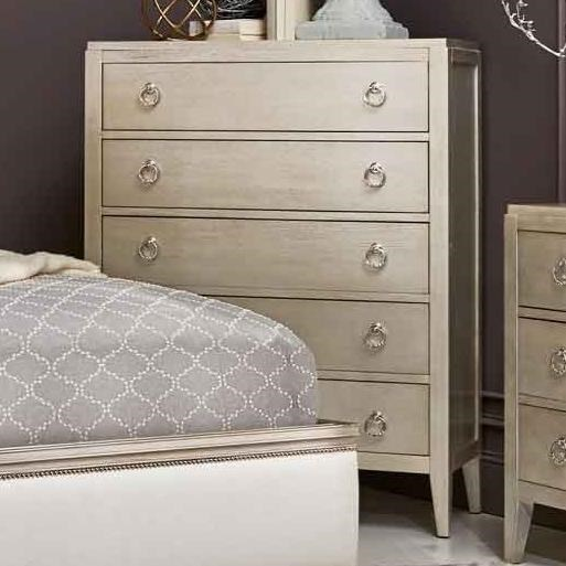 Miles Bed with Lee Cases Tall Chest by Artiste Furniture at Baer's Furniture