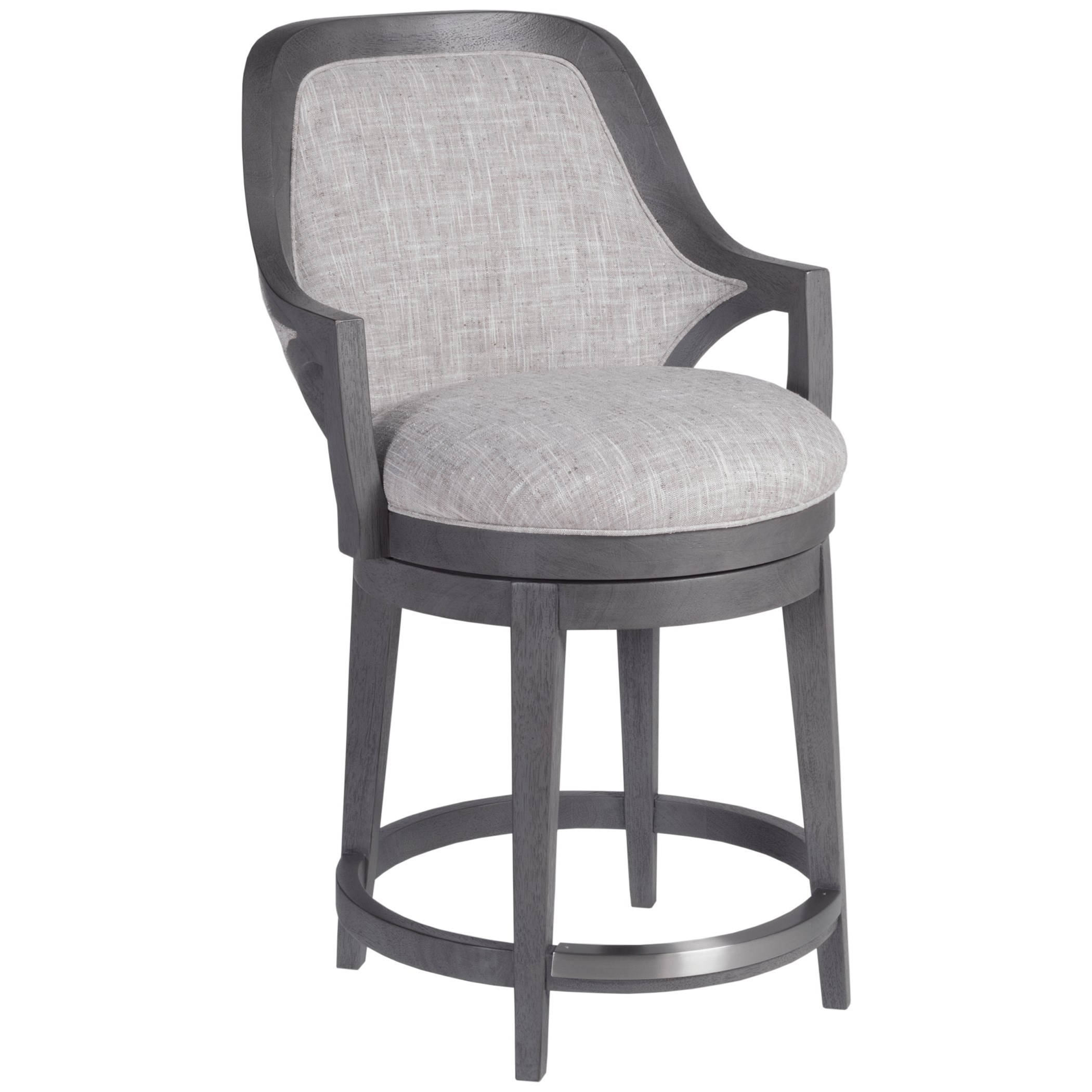 Appellation Upholstered Swivel Counter Stool by Artistica at Baer's Furniture