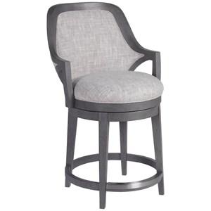 Upholstered Swivel Counter Stool