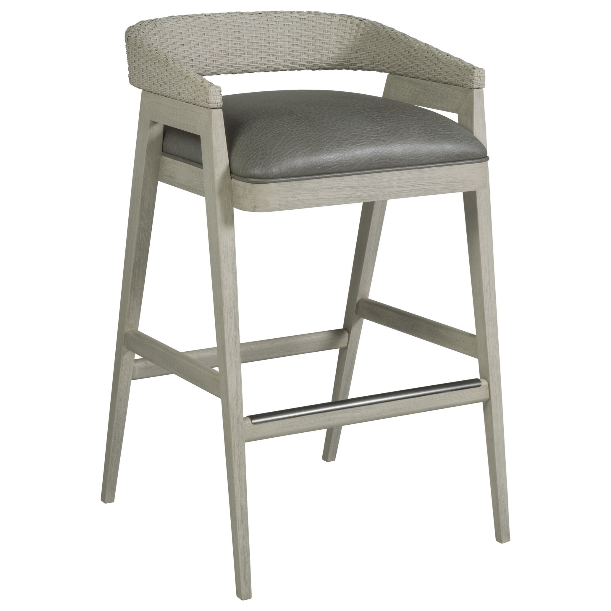 Arne Low Back Barstool by Artistica at Baer's Furniture