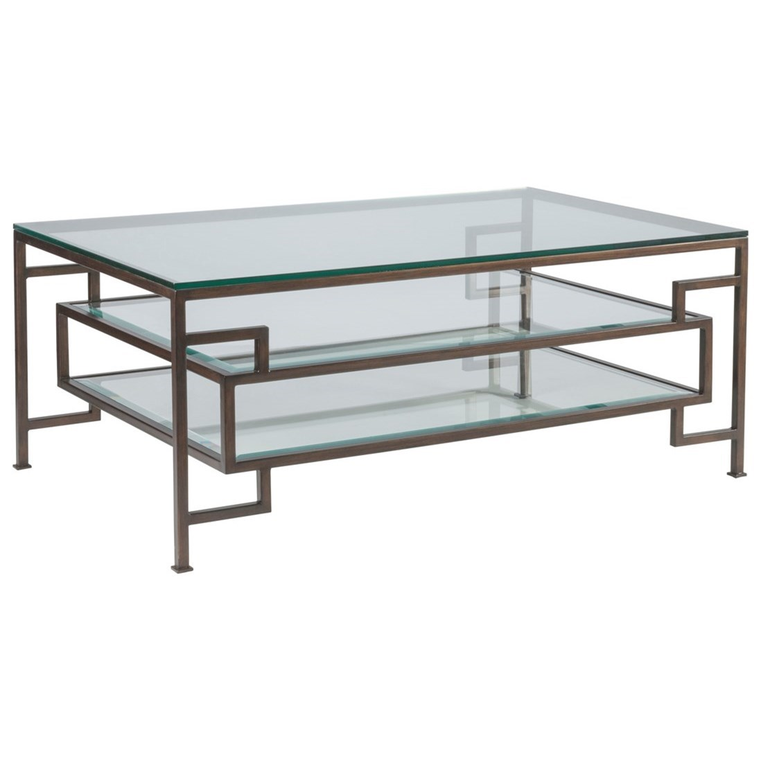 Metal Designs Suspension Rectangular Cocktail Table by Artistica at Alison Craig Home Furnishings
