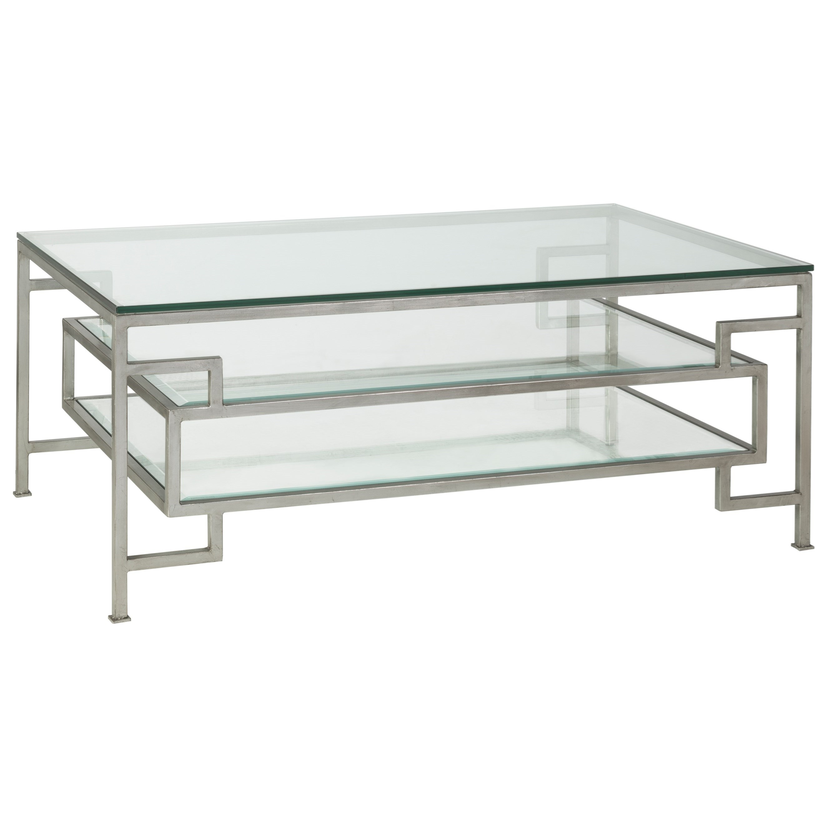 Metal Designs Suspension Rectangular Cocktail Table by Artistica at Sprintz Furniture