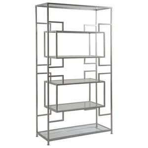 Suspension Etagere with Five Glass Shelves