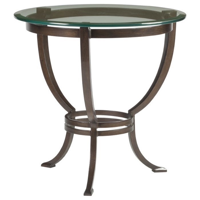 Metal Designs Andress Round End Table by Artistica at Baer's Furniture