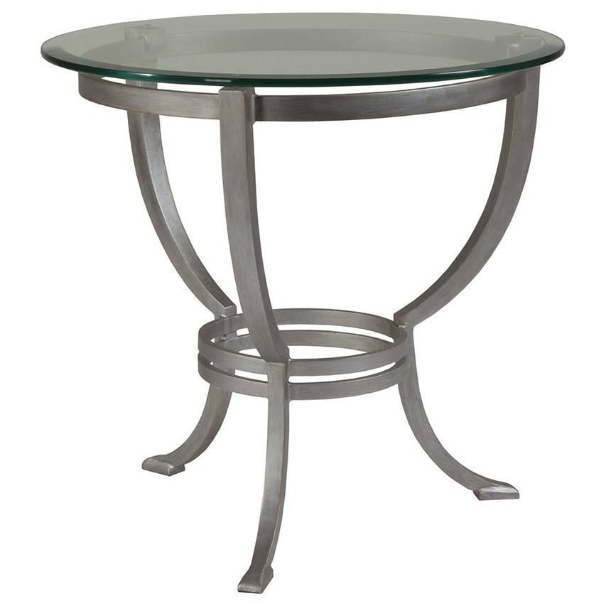 Metal Designs Andress Round End Table by Artistica at Alison Craig Home Furnishings