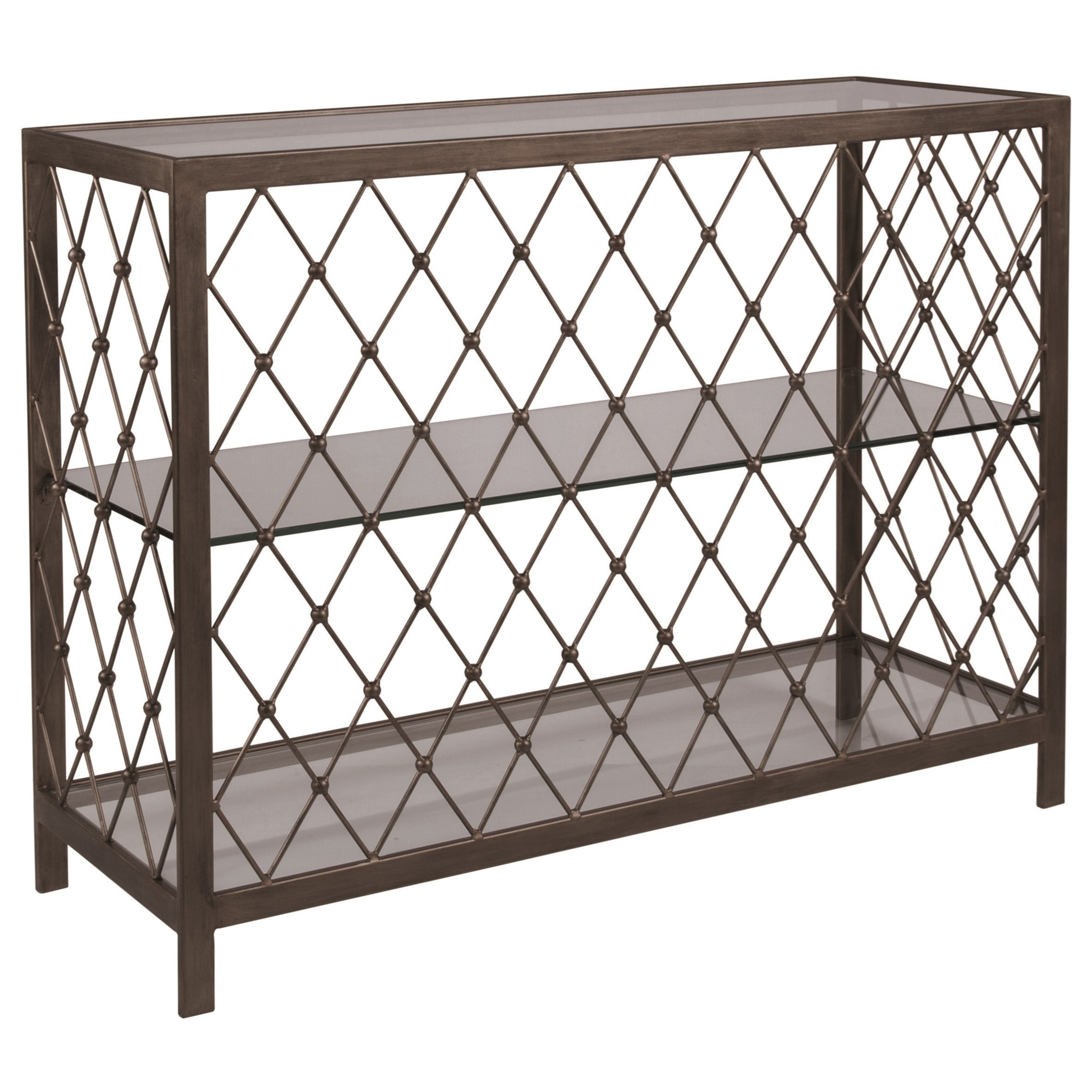 Metal Designs Royere Console Table by Artistica at Alison Craig Home Furnishings