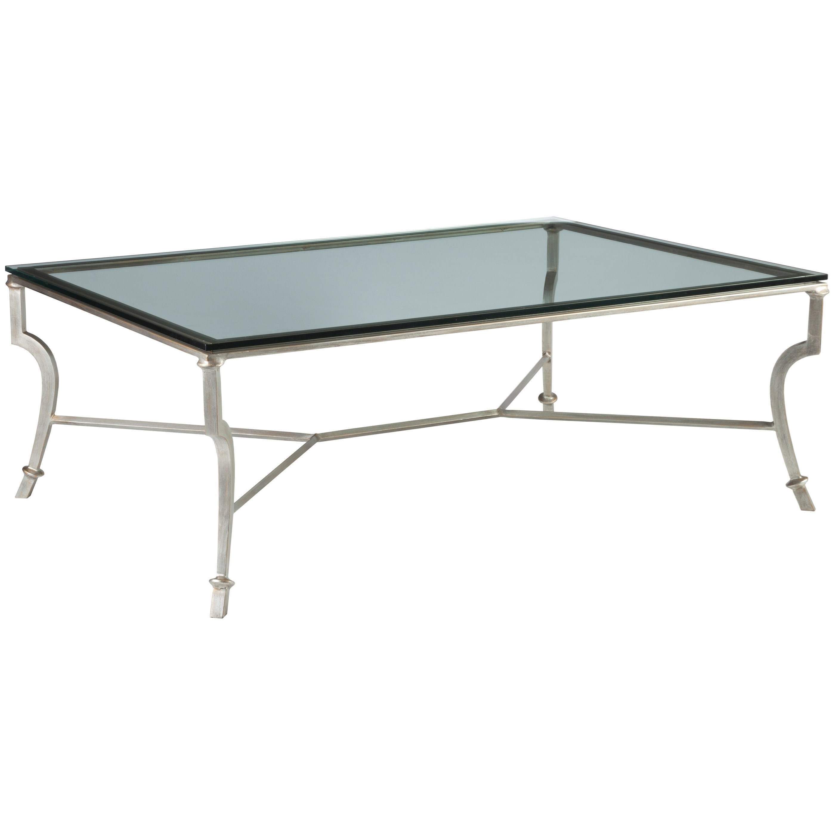 Metal Designs Syrah Large Rectangular Cocktail Table by Artistica at Alison Craig Home Furnishings