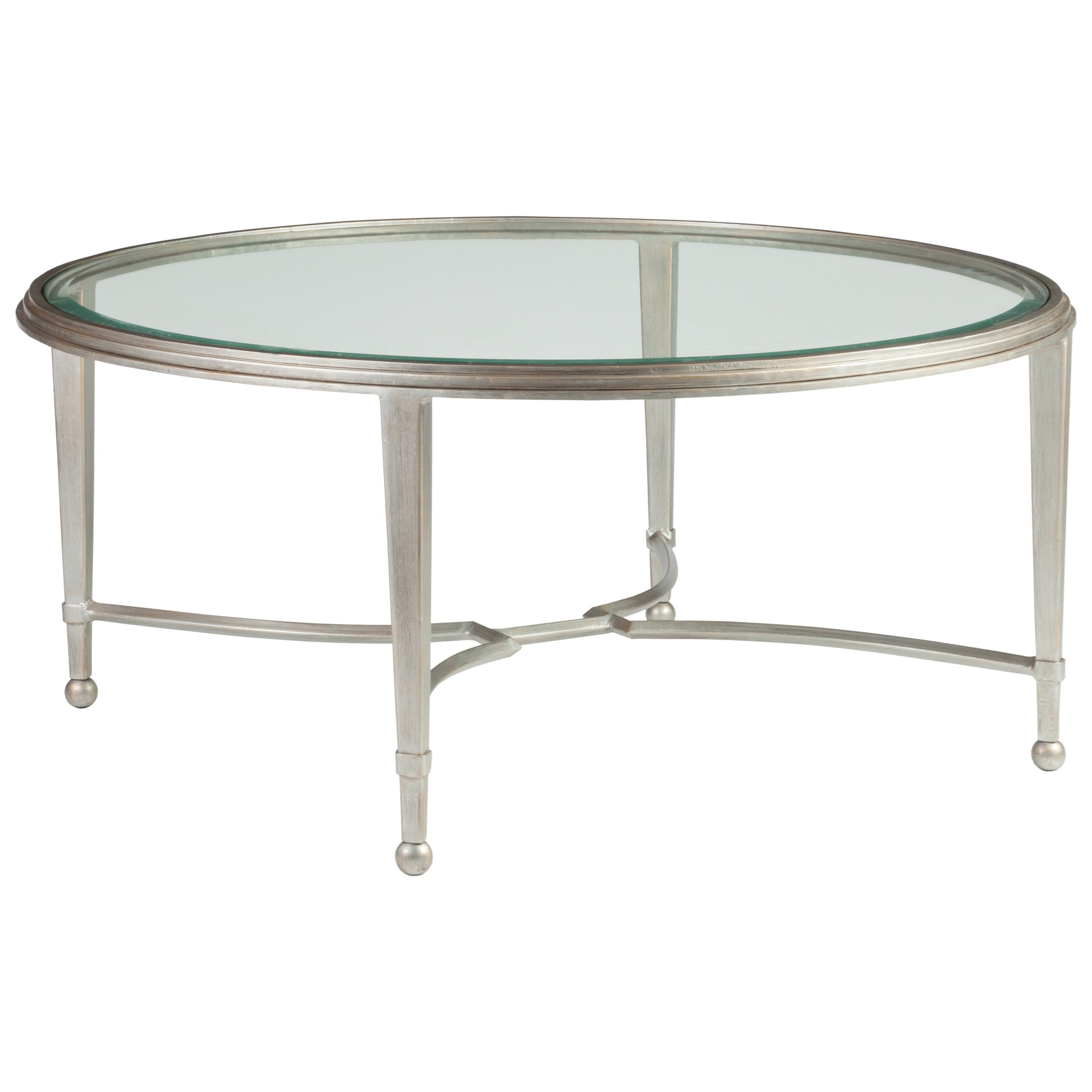 Metal Designs Sangiovese Round Cocktail Table by Artistica at Alison Craig Home Furnishings