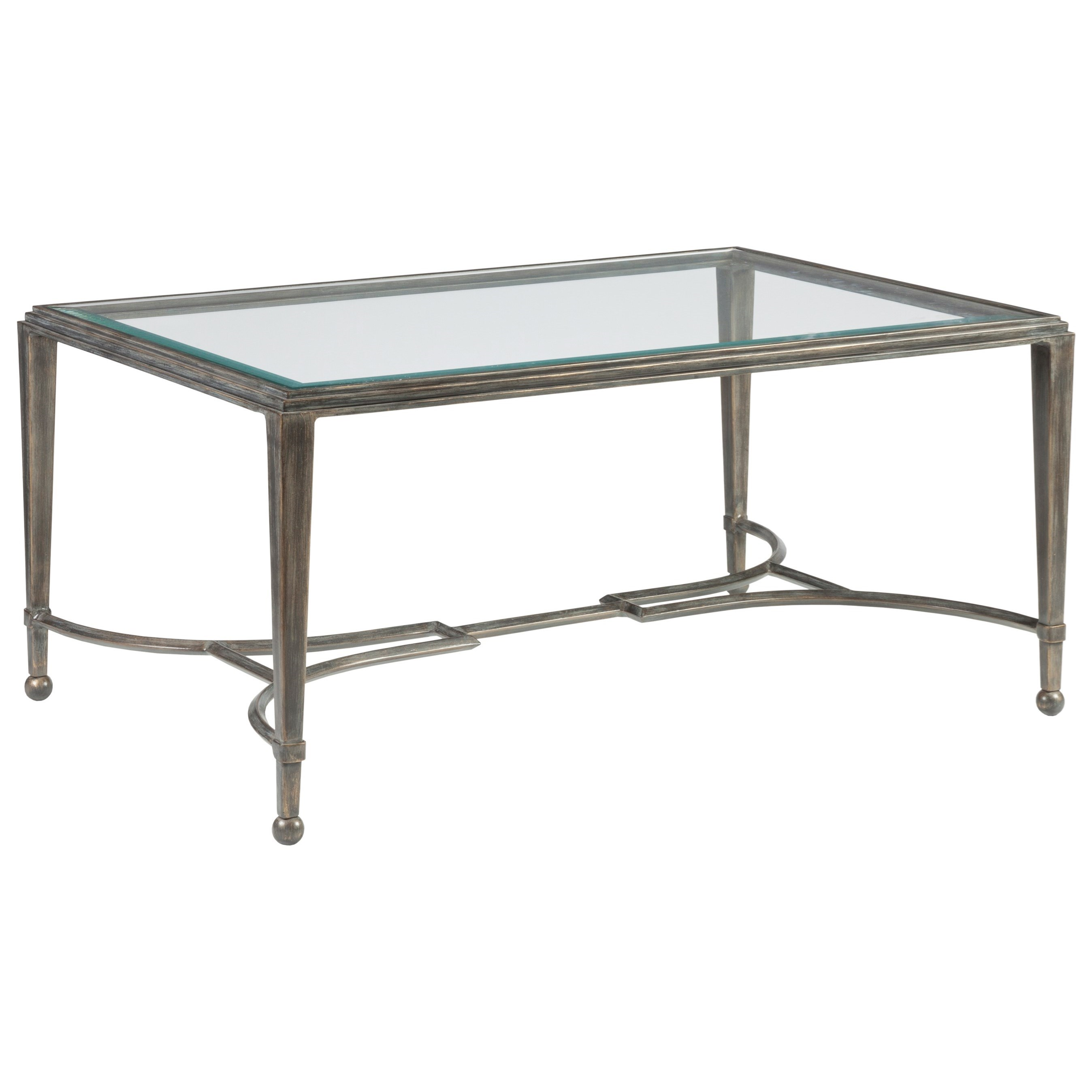 Metal Designs Sangiovese Small Rectangular Cocktail Table by Artistica at Alison Craig Home Furnishings