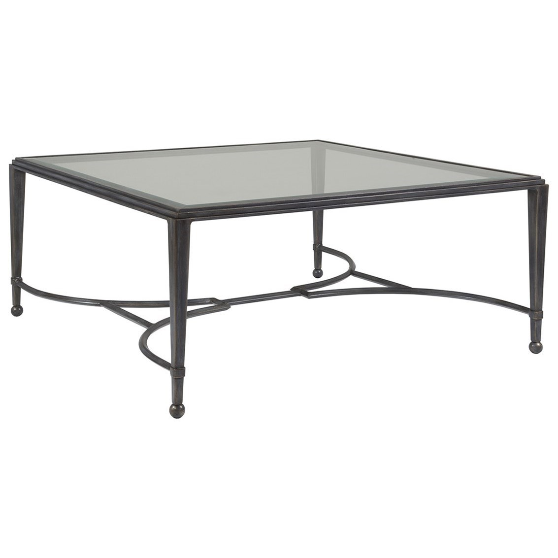 Metal Designs Sangiovese Square Cocktail Table by Artistica at Baer's Furniture