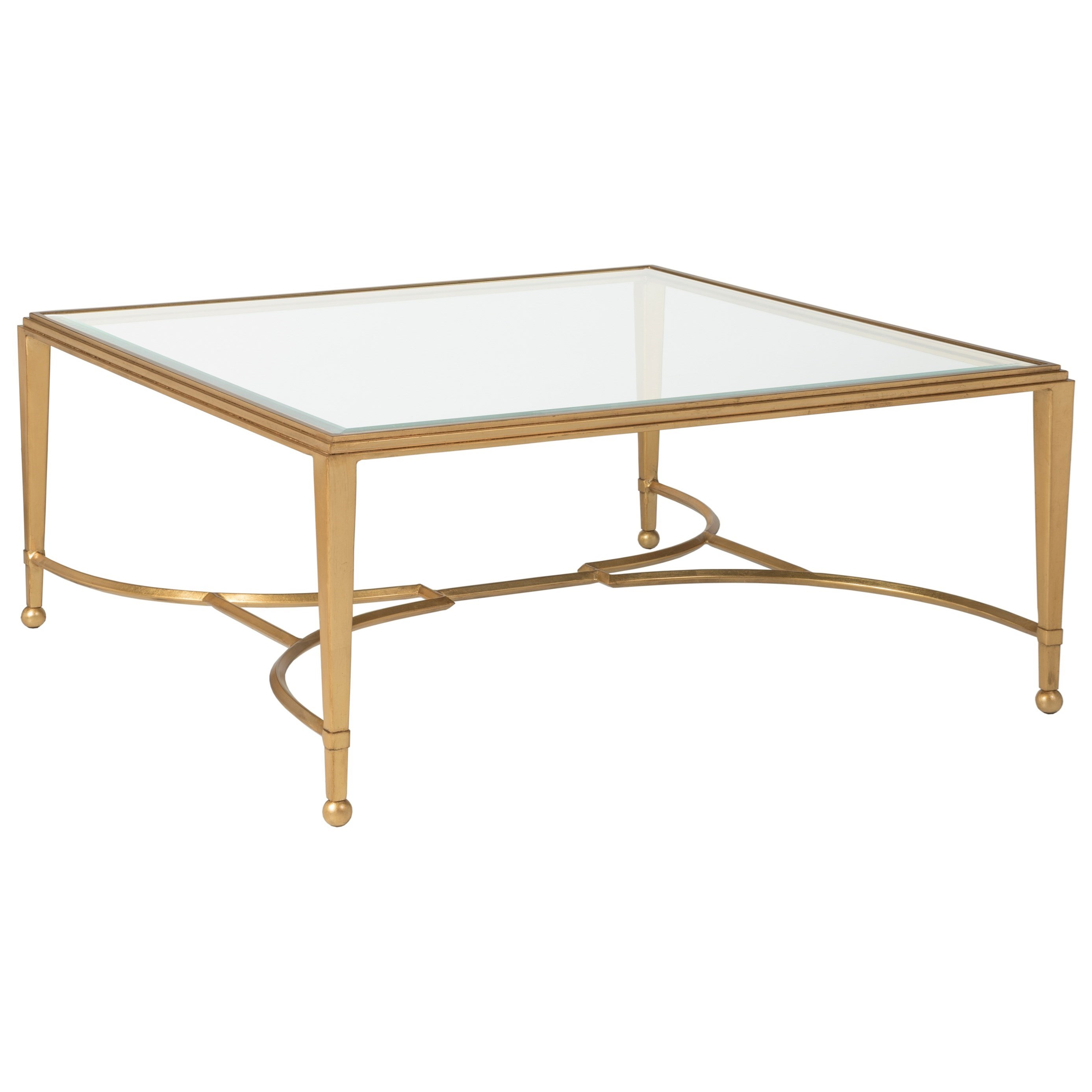 Metal Designs Sangiovese Square Cocktail Table by Artistica at Alison Craig Home Furnishings