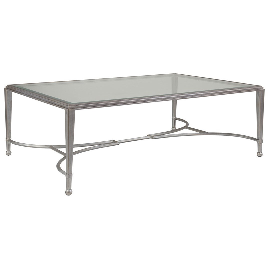 Metal Designs Sangiovese Large Rectangular Cocktail Table by Artistica at Johnny Janosik