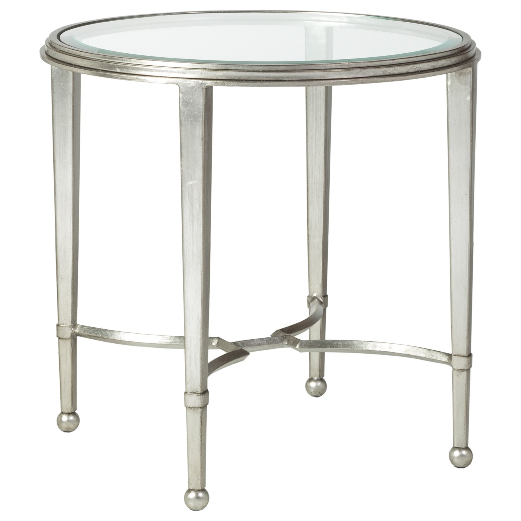 Metal Designs Sangiovese Round End Table by Artistica at Alison Craig Home Furnishings