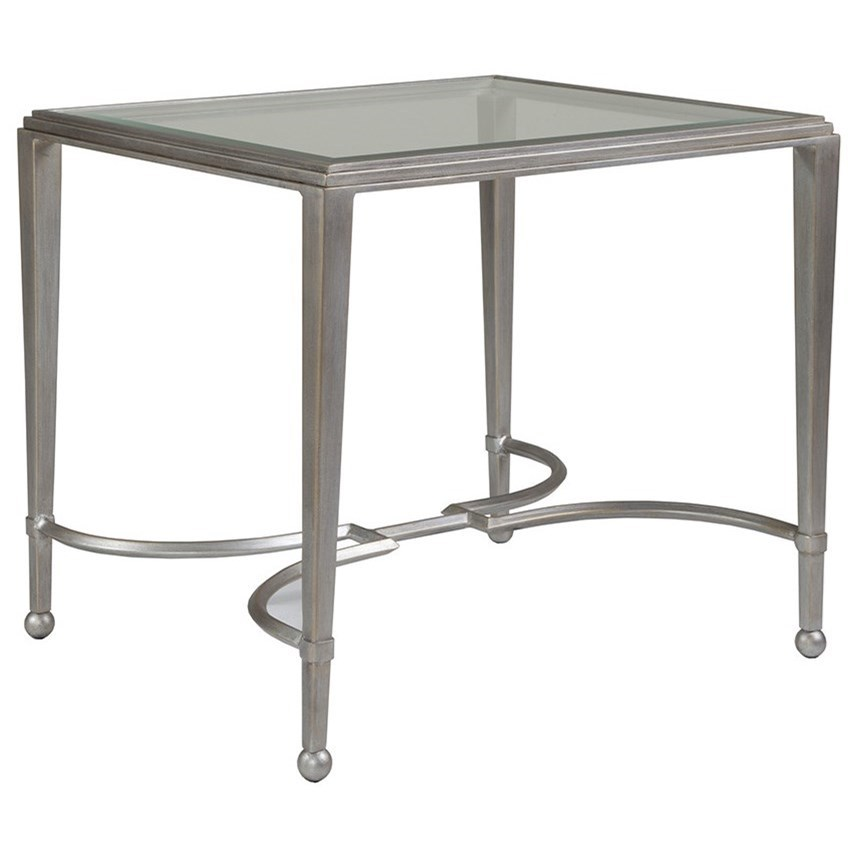 Metal Designs Sangioves Rectangular End Table by Artistica at Alison Craig Home Furnishings