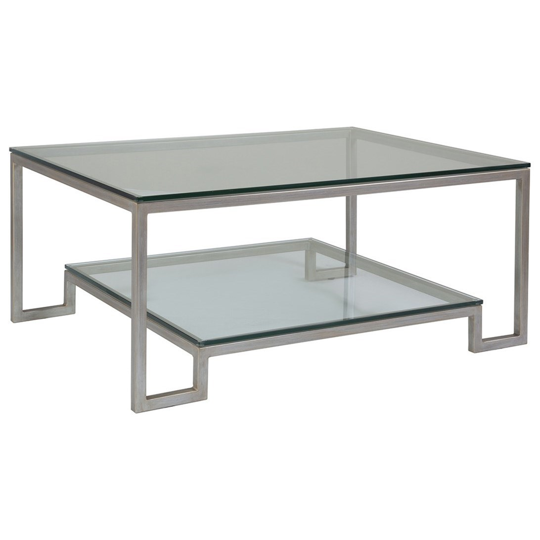 Metal Designs Bonaire Rectangular Cocktail Table by Artistica at Alison Craig Home Furnishings