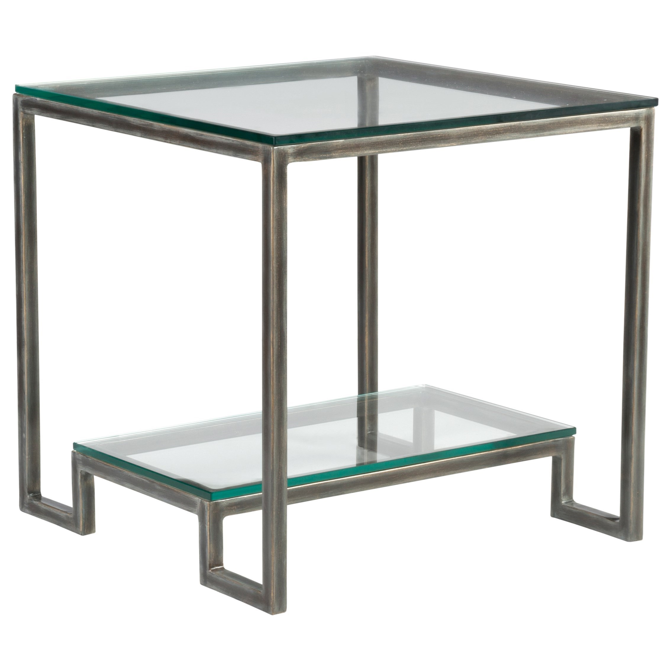 Metal Designs Bonaire Square End Table by Artistica at Alison Craig Home Furnishings