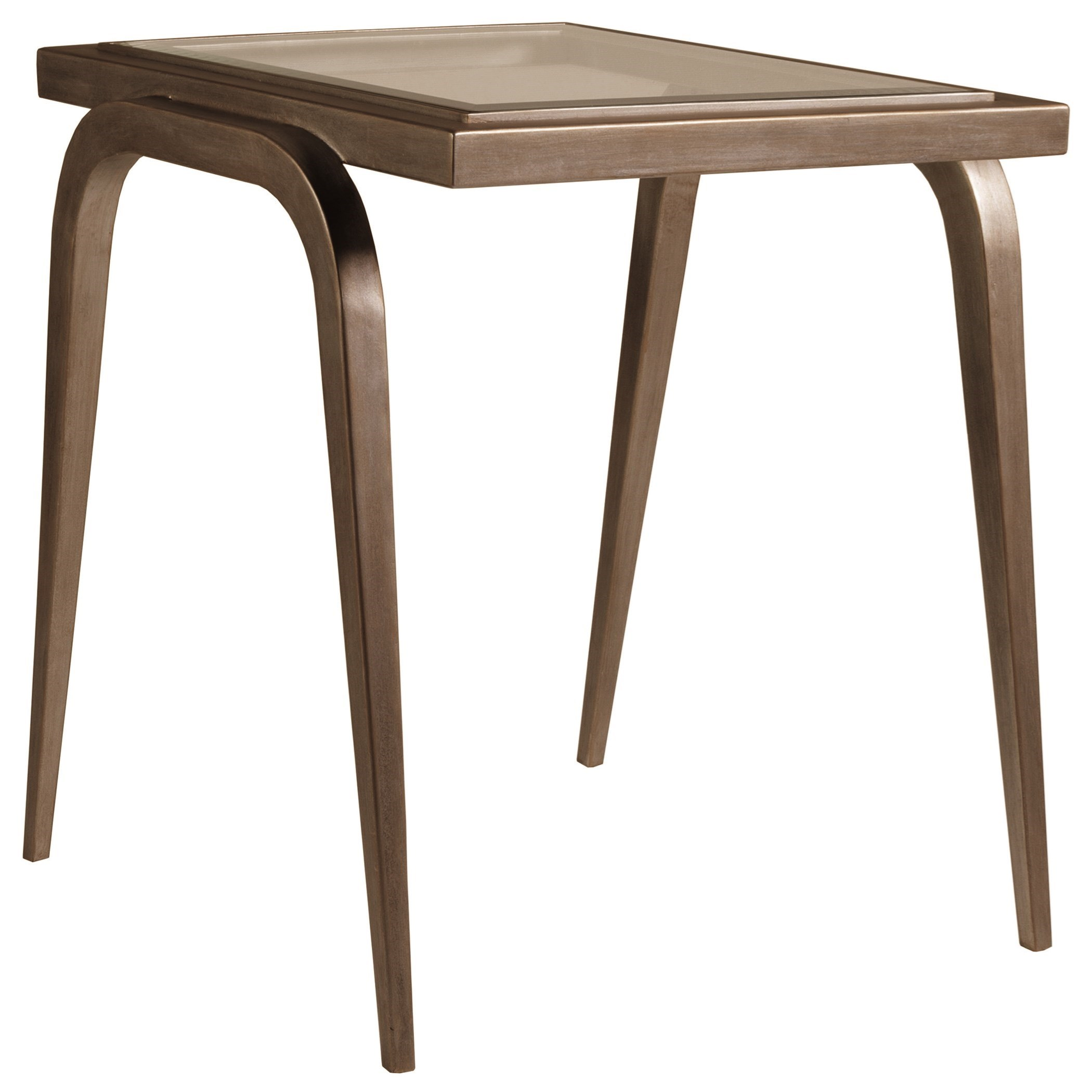 Metal Designs Mitchum Rectangular End Table by Artistica at Alison Craig Home Furnishings