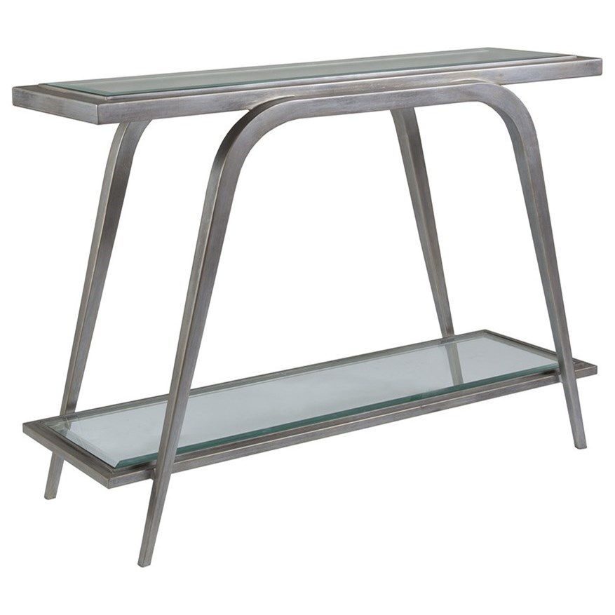 Metal Designs Mitchum Console Table by Artistica at Alison Craig Home Furnishings