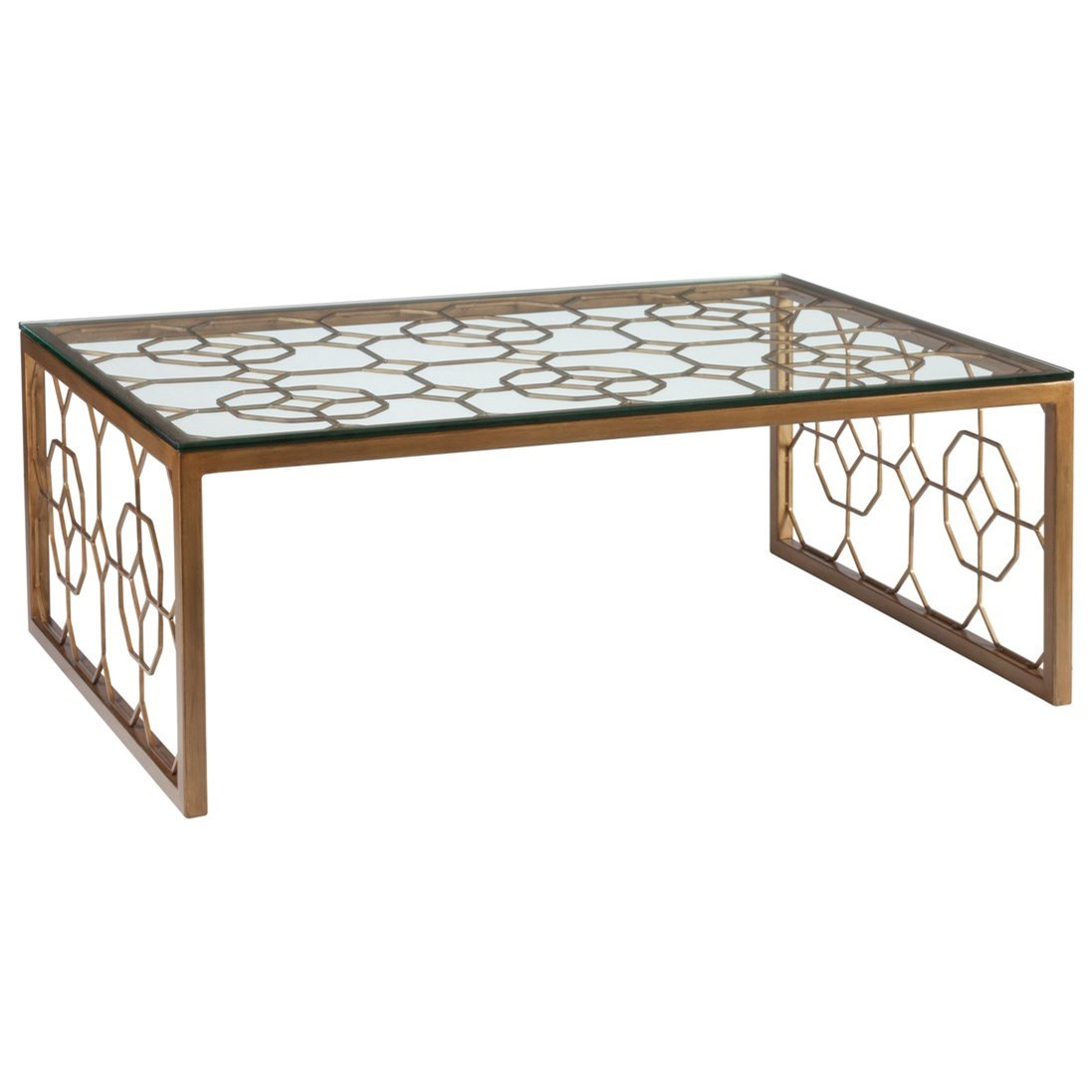 Metal Designs Honeycomb Rectangular Cocktail Table by Artistica at Jacksonville Furniture Mart