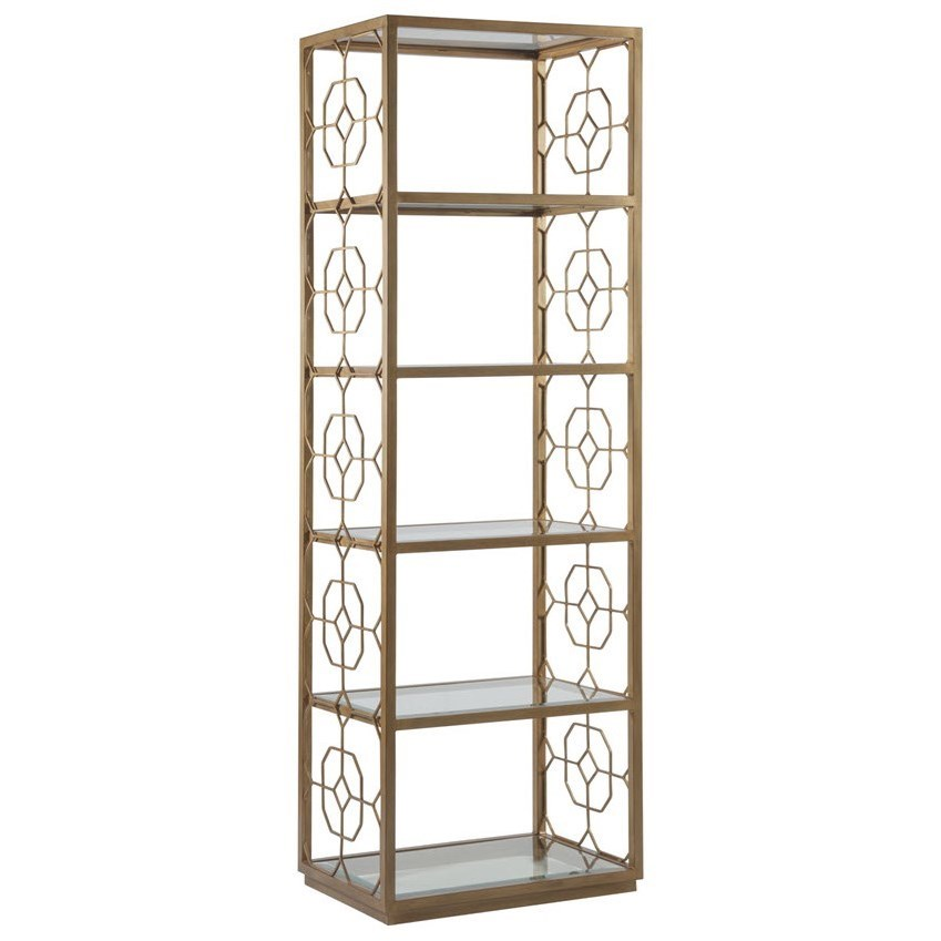 Metal Designs Honeycomb Slim Etagere by Artistica at Jacksonville Furniture Mart