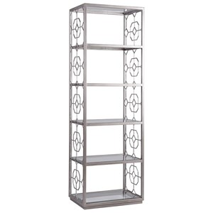 Honeycomb Slim Etagere with Five Glass Shelves