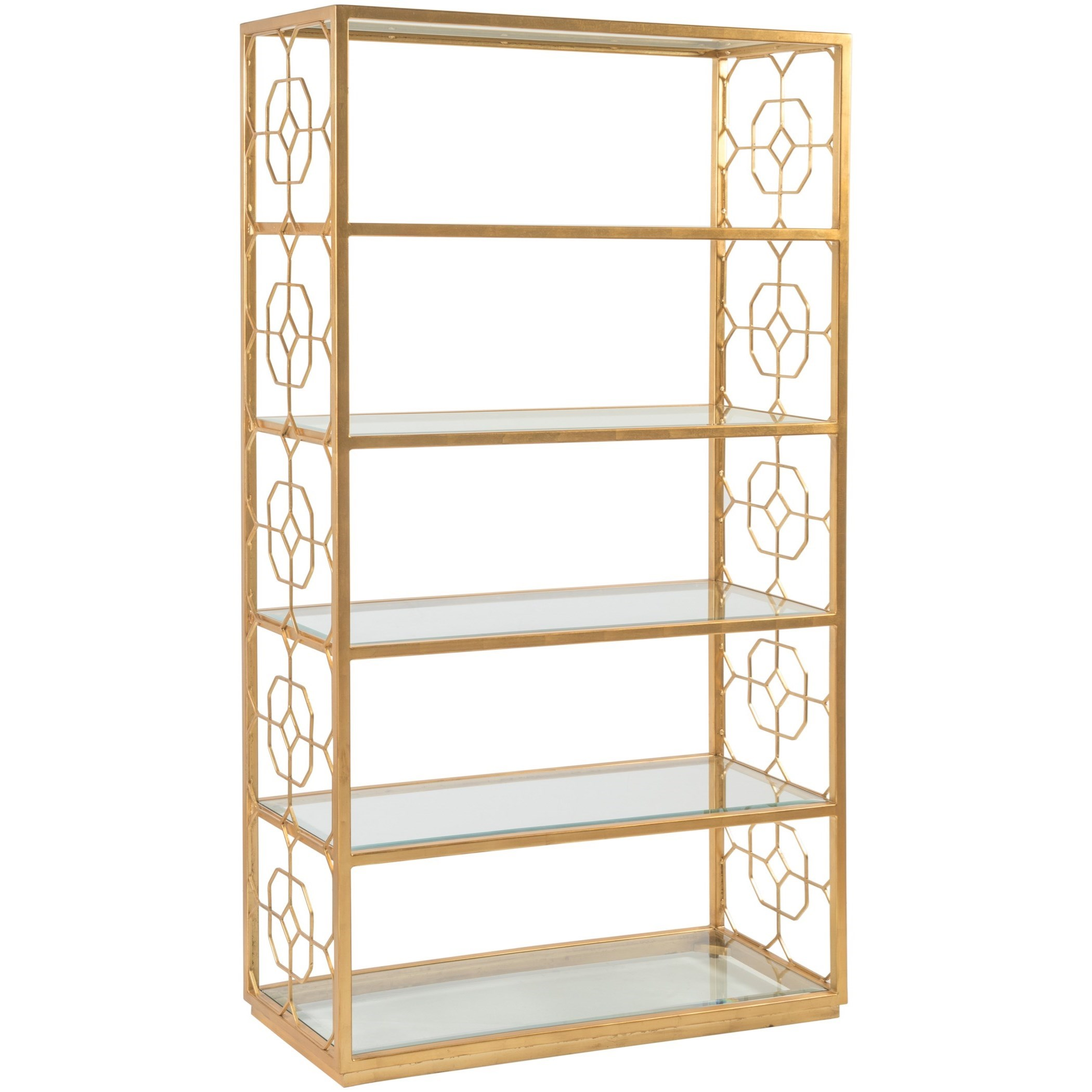 Metal Designs Honeycomb Etagere by Artistica at Alison Craig Home Furnishings