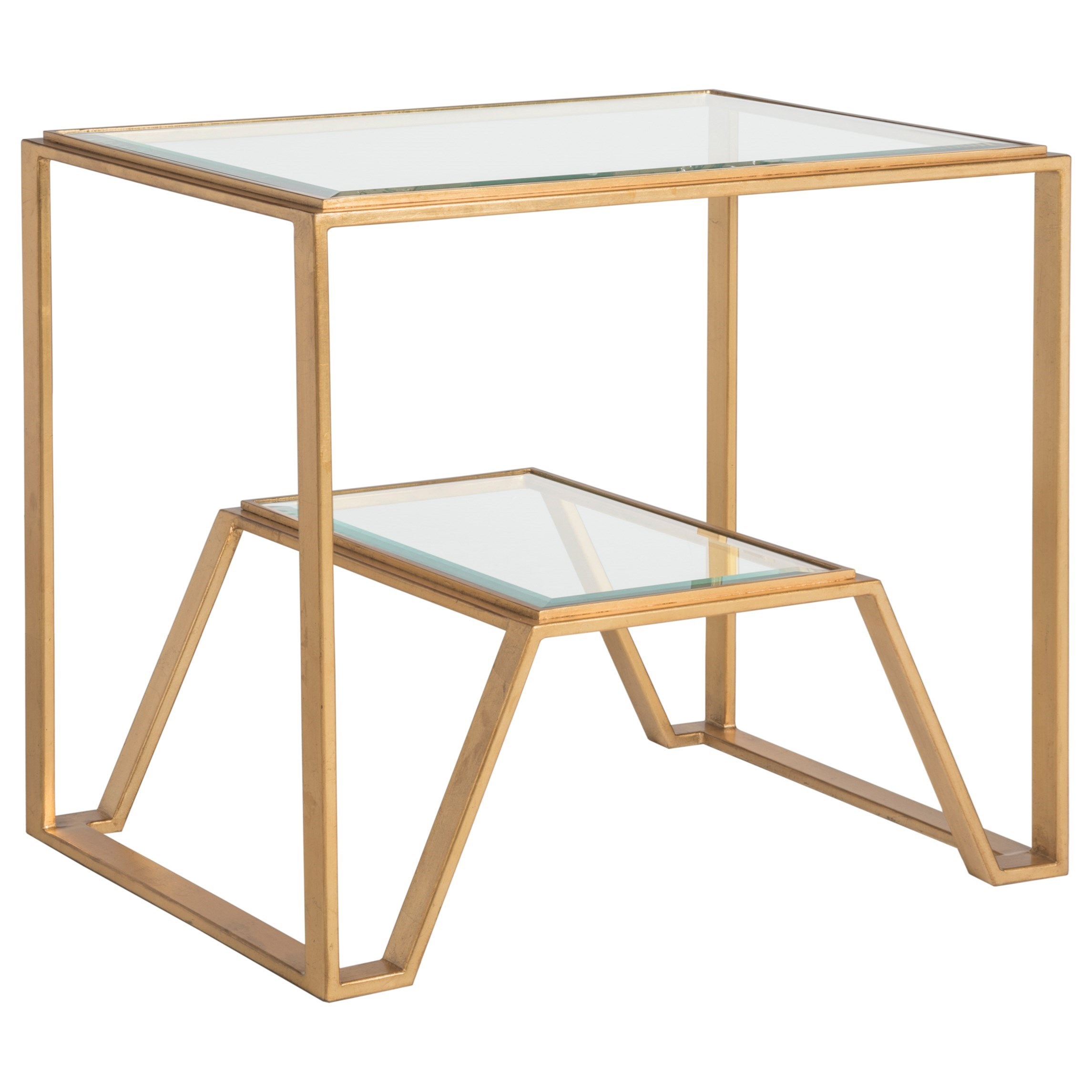 Metal Designs Byron Rectangular End Table by Artistica at Alison Craig Home Furnishings