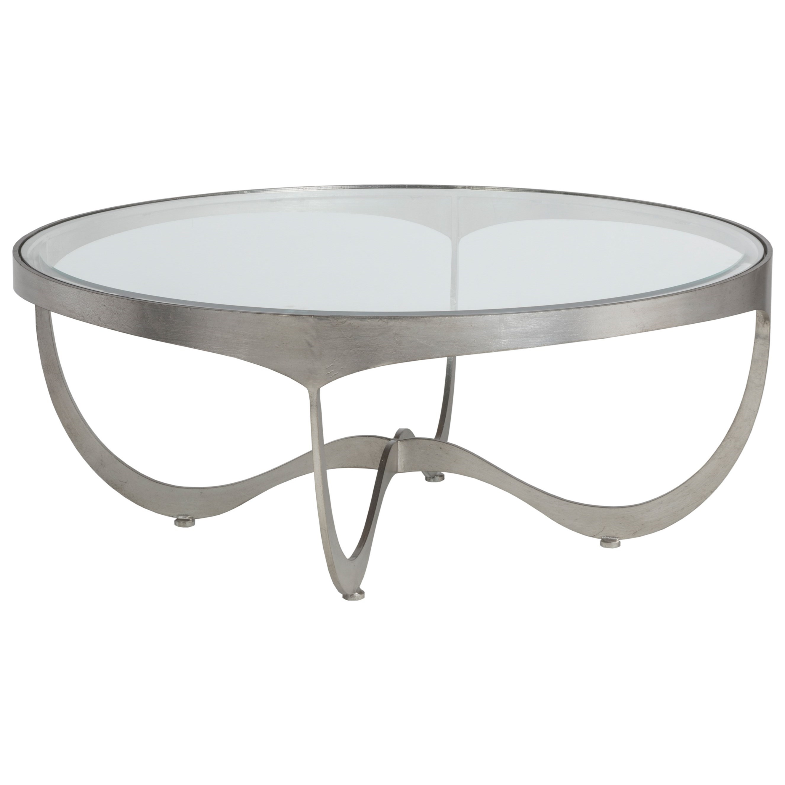 Metal Designs Sophie Round Cocktail Table by Artistica at Baer's Furniture