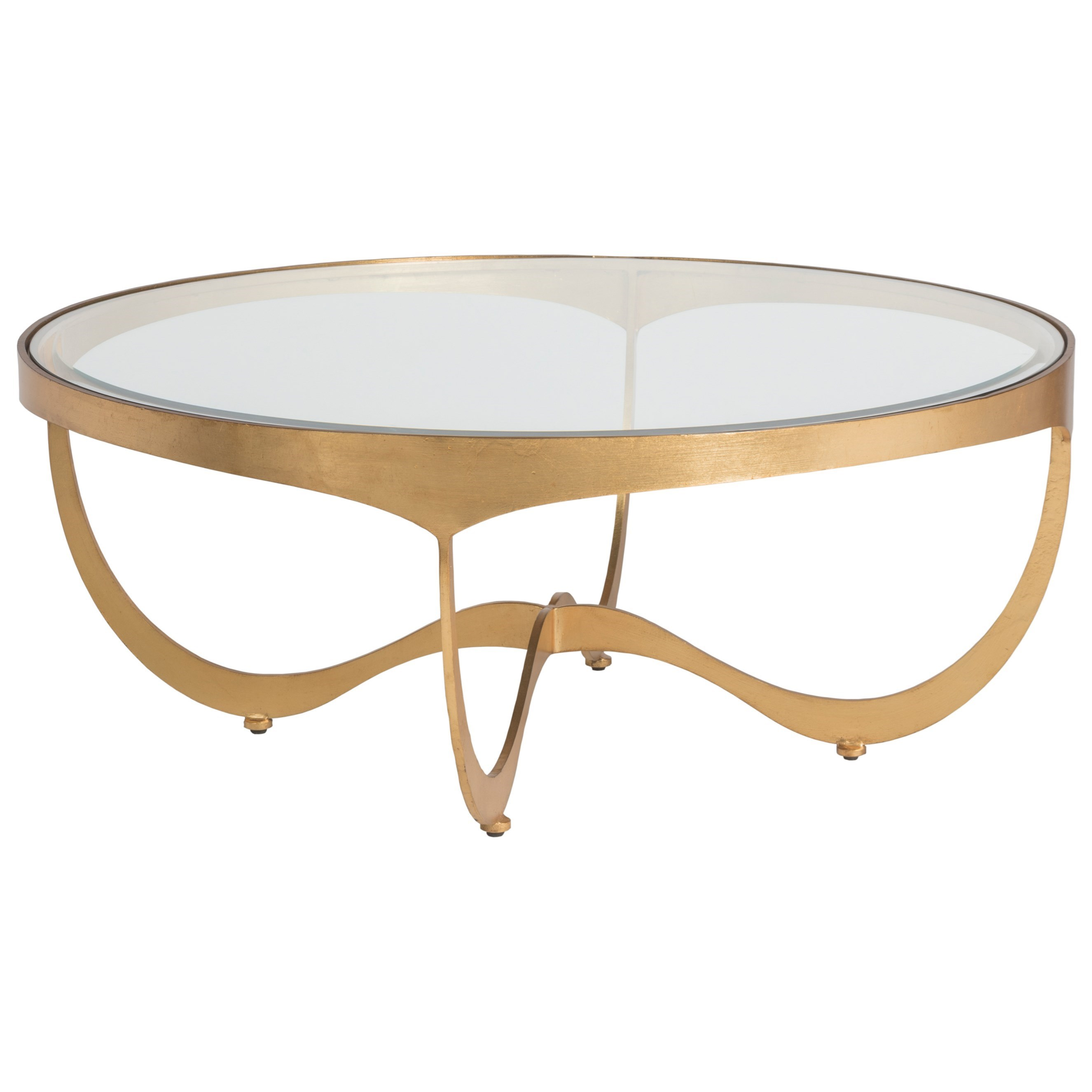 Metal Designs Sophie Round Cocktail Table by Artistica at Alison Craig Home Furnishings