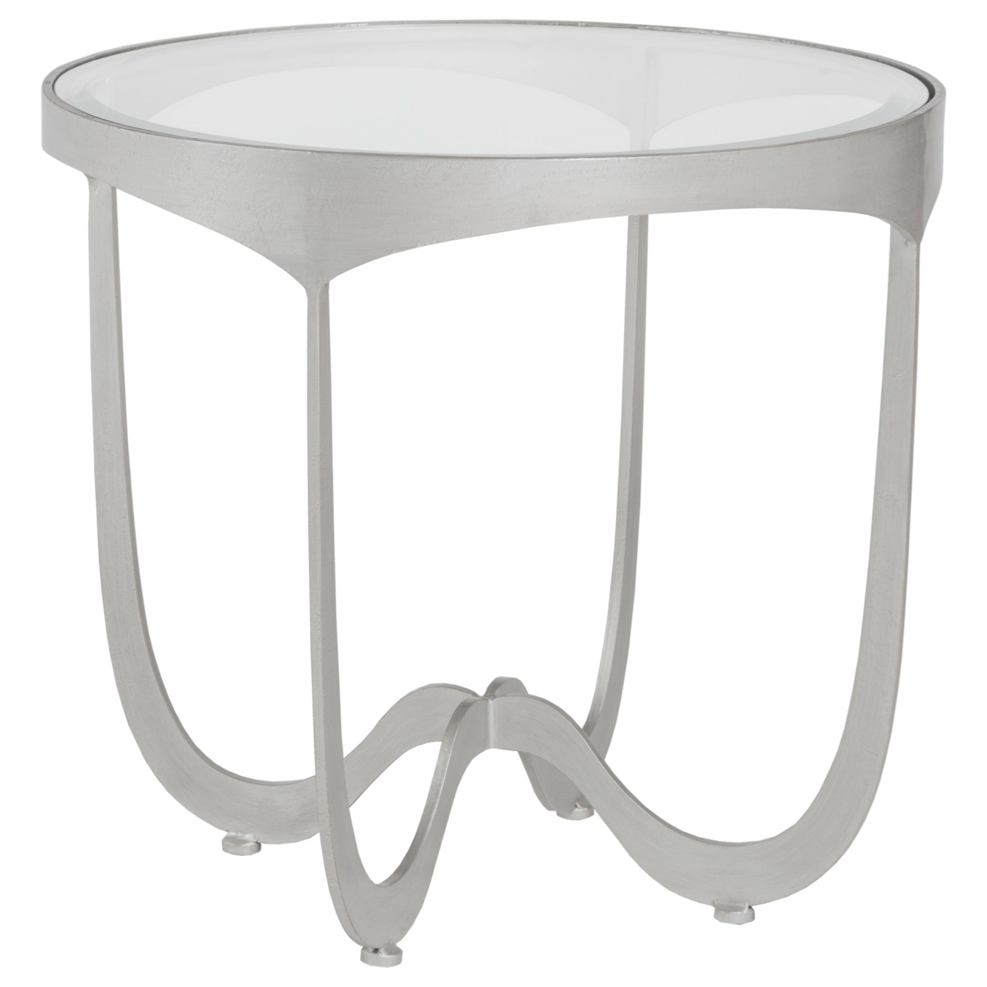 Metal Designs Sophie Round End Table by Artistica at Alison Craig Home Furnishings