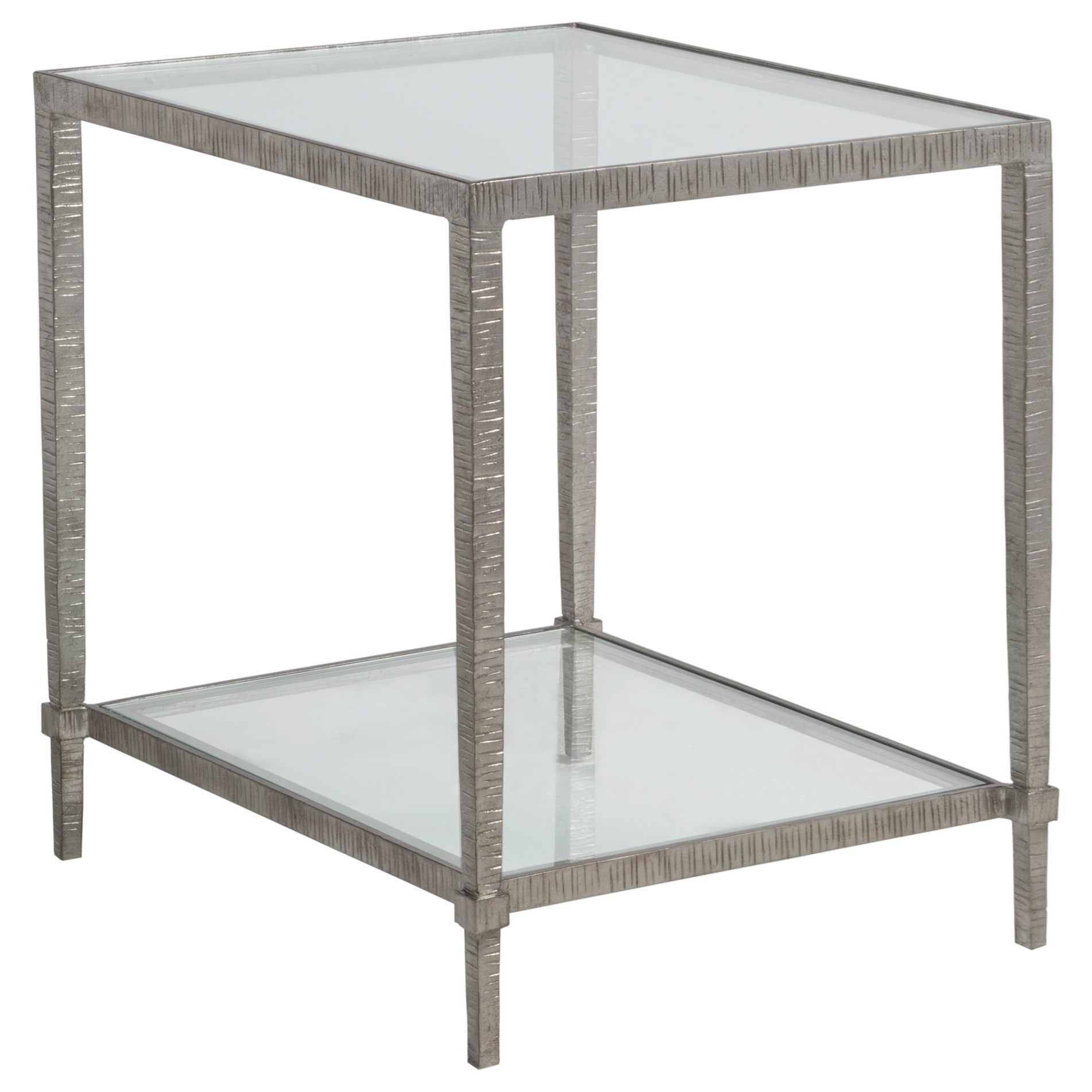 Metal Designs Claret Rectangular End Table by Artistica at Alison Craig Home Furnishings