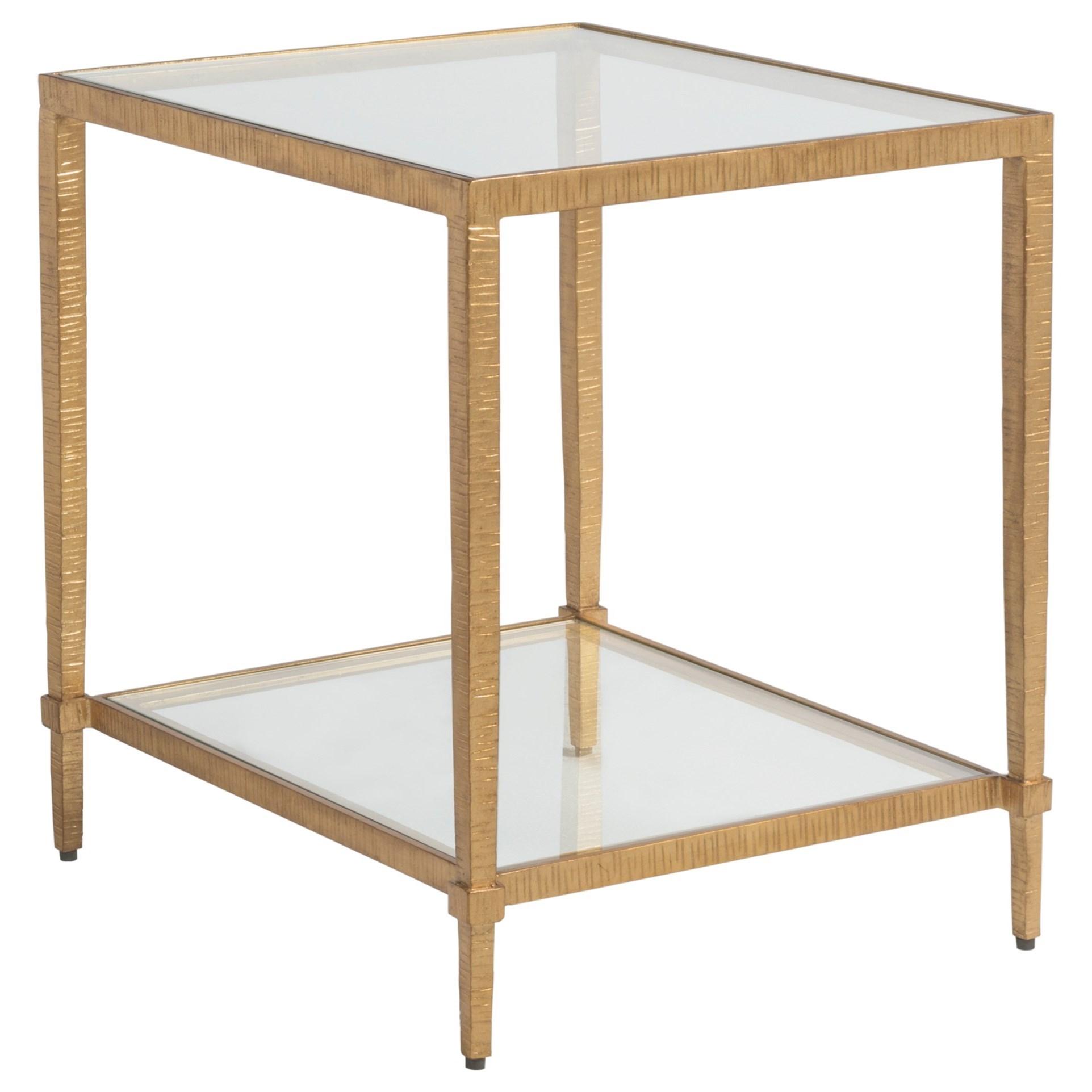 Metal Designs Claret Rectangular End Table by Artistica at Baer's Furniture